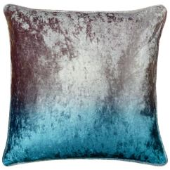 Kitchen Curtain Sets Blanco Undermount Sinks Ombre Velvet Cushion - Silver & Teal | Cushions B&m