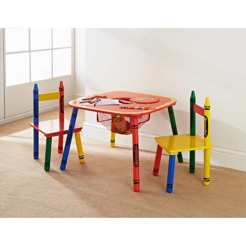 Crayola Kids Table  Chairs Set 3pc  Kids Furniture  BM