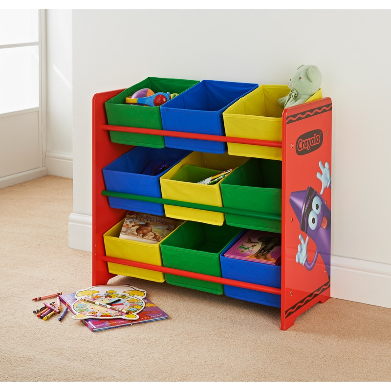 Crayola Kids 9 Tub Storage Unit  Kids Furniture  BM