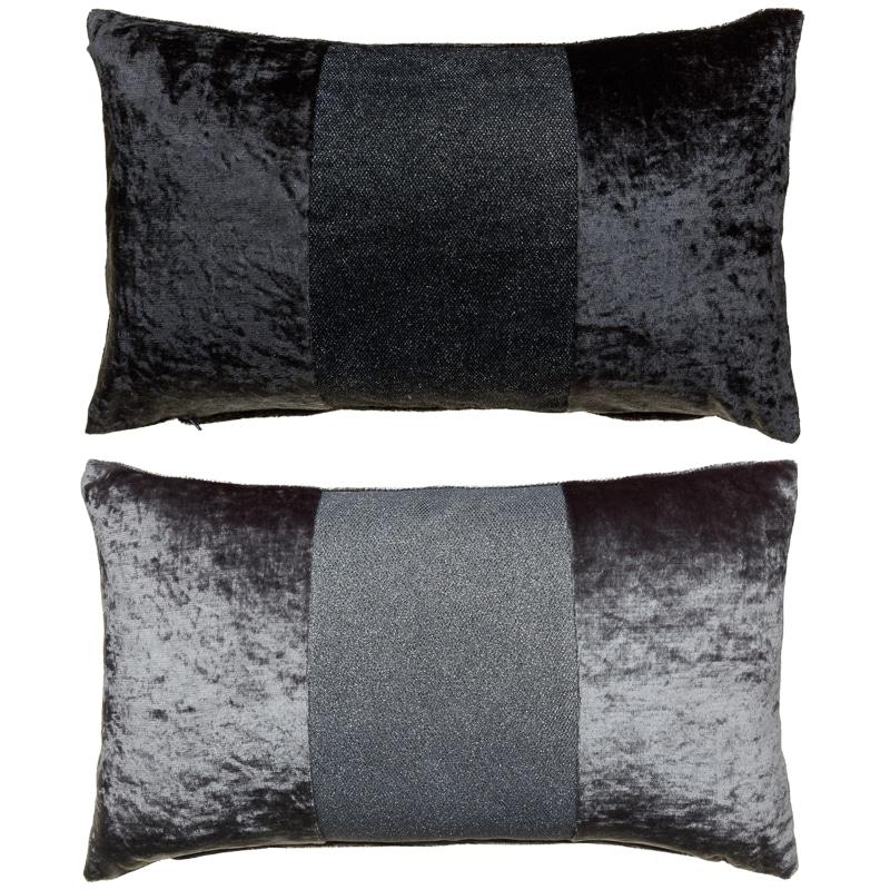 Sparkle Crushed Velvet Cushion  Silver  Cushions  BM