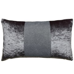 Grey Furniture Living Room With Dark Brown Sparkle Crushed Velvet Cushion - Silver | Cushions B&m