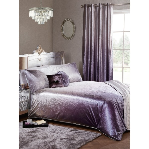 Full Ombre Velvet Duvet Set - King Bedding &