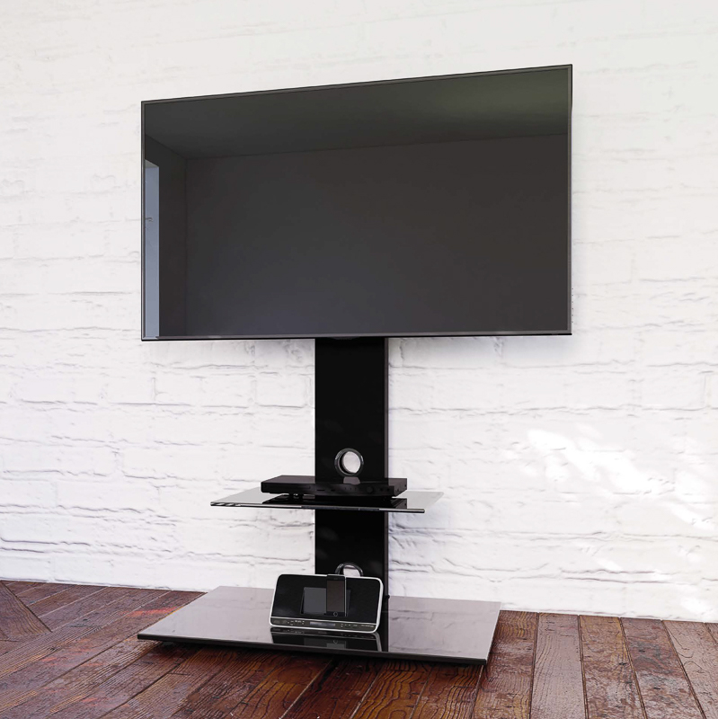 Blaupunkt TV Stand with Brackets  Black  Furniture  BM