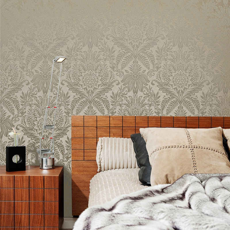 Signature Damask Wallpaper Biscuit Wallpaper B M