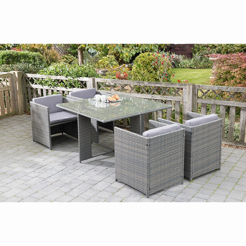 Sorrento Cube Patio Set 5pc  Garden Furniture  BM