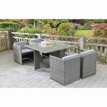 Sorrento Cube Patio Set 5pc Garden Furniture - &