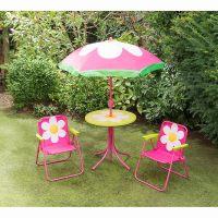 Childrens Patio Set - Flower | Garden Furniture - B&M