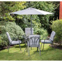 Madison Premium Padded Patio Set 6pc Garden Furniture - &