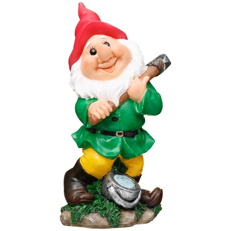 Garden Gnome with Pickaxe  Garden Decorations  BM