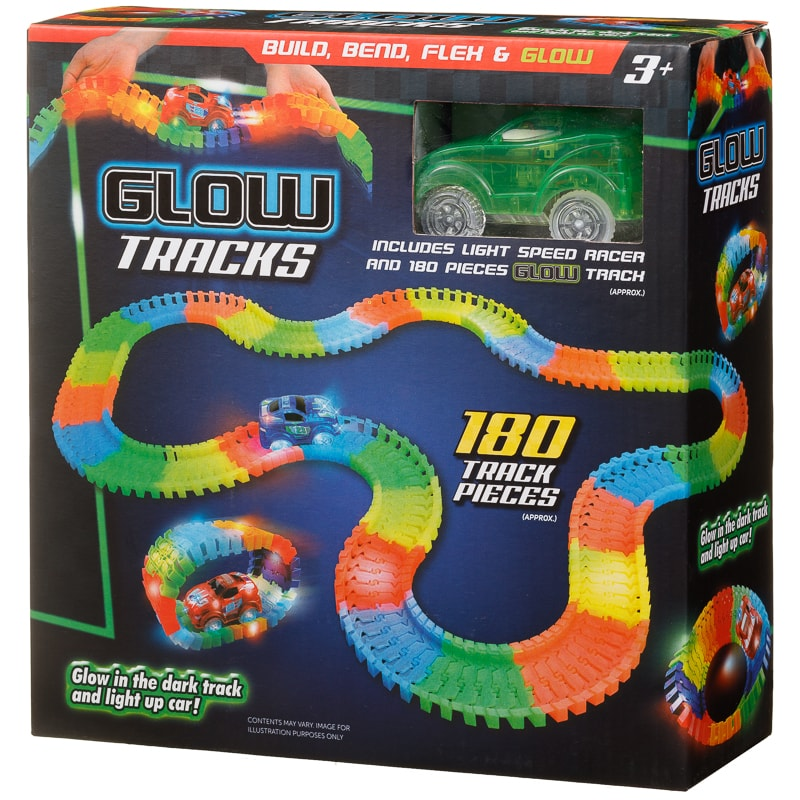 Glow in the Dark Race Track  LightUp Car  Toy Cars  BM