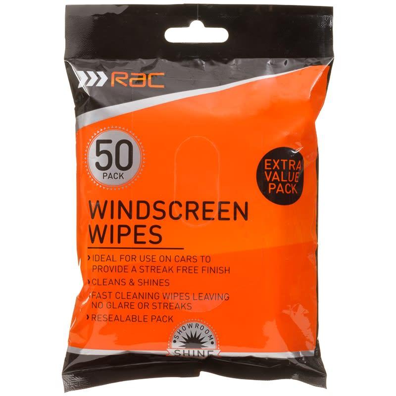 RAC Windscreen Wipes 50pk  Car Care  BM