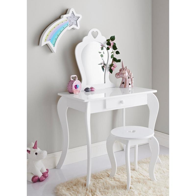 Amelia Vanity Set with Stool  Mirror  Childrens Furniture  BM