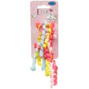 ella hair ribbon clips 2pk - pastel