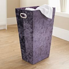 Kitchen Accessories Stores Samsung Appliances Reviews Crushed Velvet Laundry Hamper - Purple | B&m