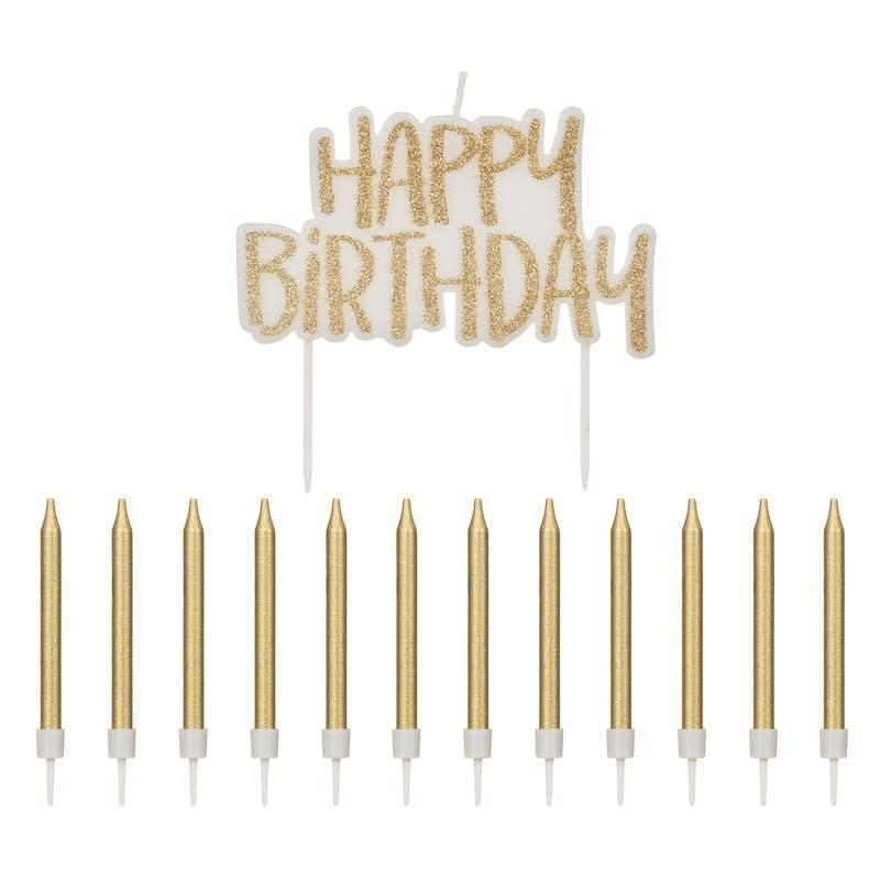 happy birthday candles set