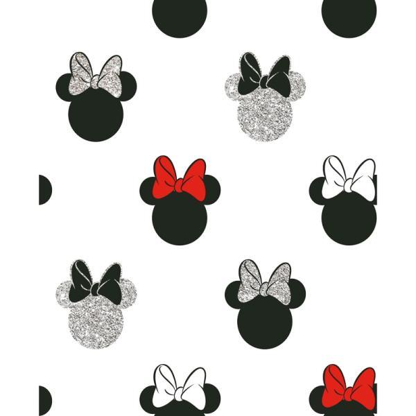Minnie Sparkle Wallpaper - Black & Red Diy