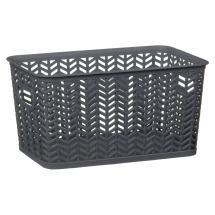 Medium Chevron Storage Basket - Grey &