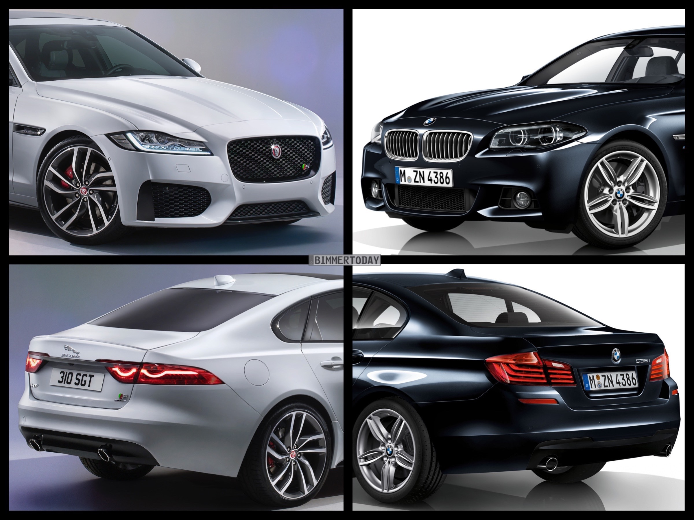 The biggest difference between the x3 and the x5 just might be in their dimensions! Photo Comparison: 2015 Jaguar XF vs. BMW F10 5 Series
