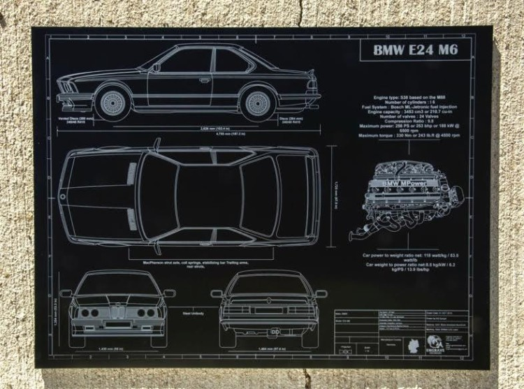 Engraved Blueprints BMW M6 750x557