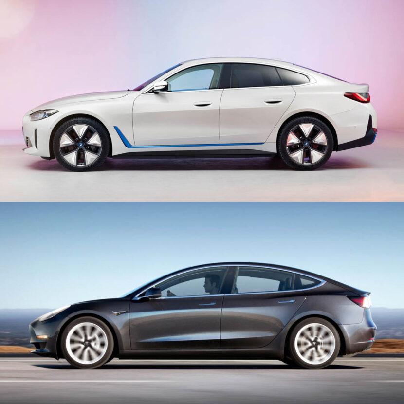 BMW i4 vs Tesla Model 3 2 of 3 830x830