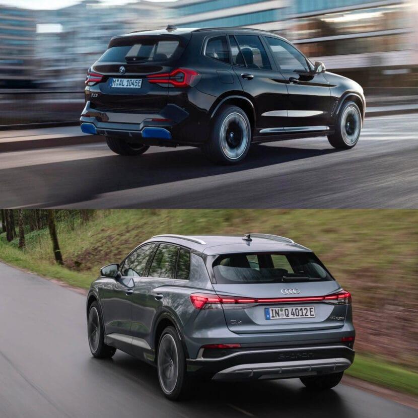 BMW iX3 LCI vs Audi Q4 e tron 3 of 4 830x830