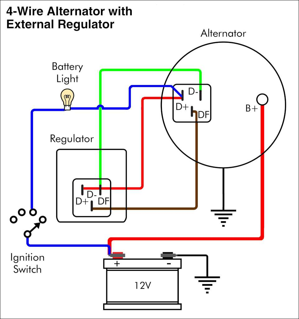 Wiring Diagram For Alternator Warning Light | Battery Warning Light Wiring Diagram For |  | Wiring Diagram