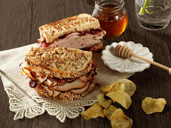 Maple Honey Turkey Cranberry Sandwich Recipe Boar39s Head