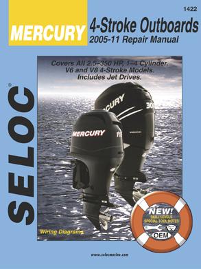 Seloc Marine Mercury Outboard 4-Stroke Manual 2005-2011