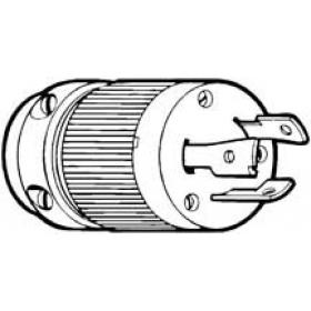 Marinco/AFI/Guest Plug Bass Locking Type 30A 125v Male