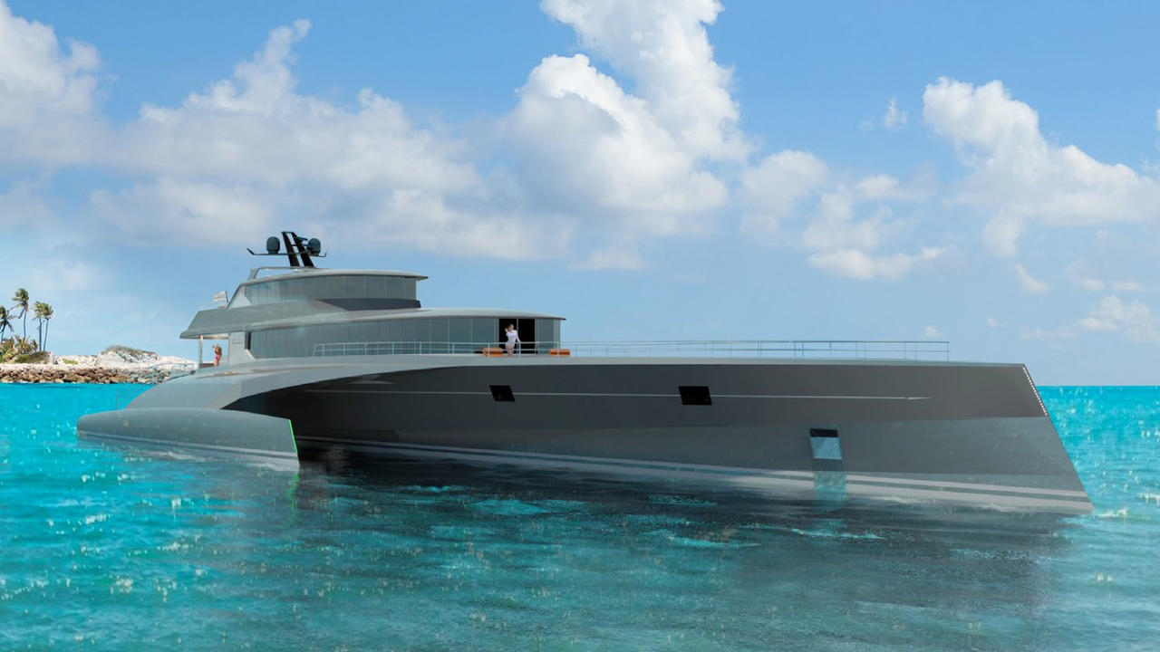 Blue Coast Yachts Reveals 60m Trimaran Project Boat