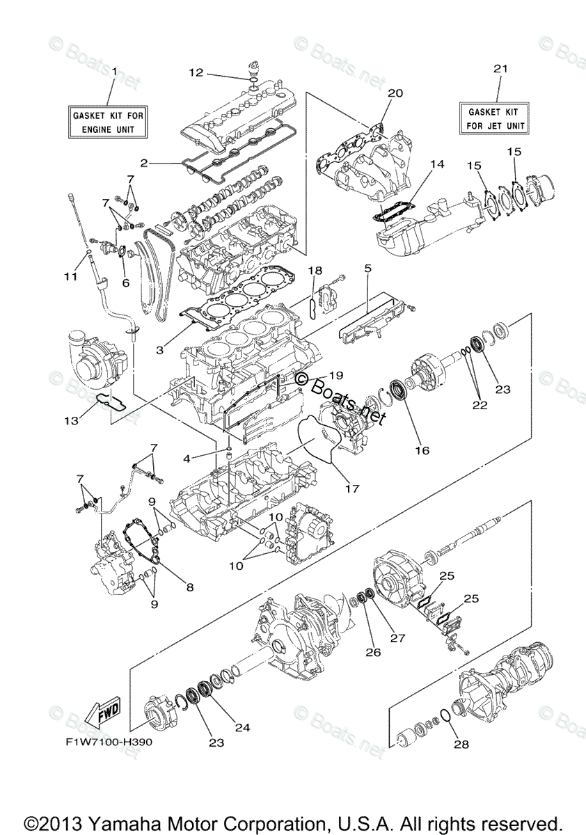 Yamaha Waverunner Parts 2009 OEM Parts Diagram for Repair