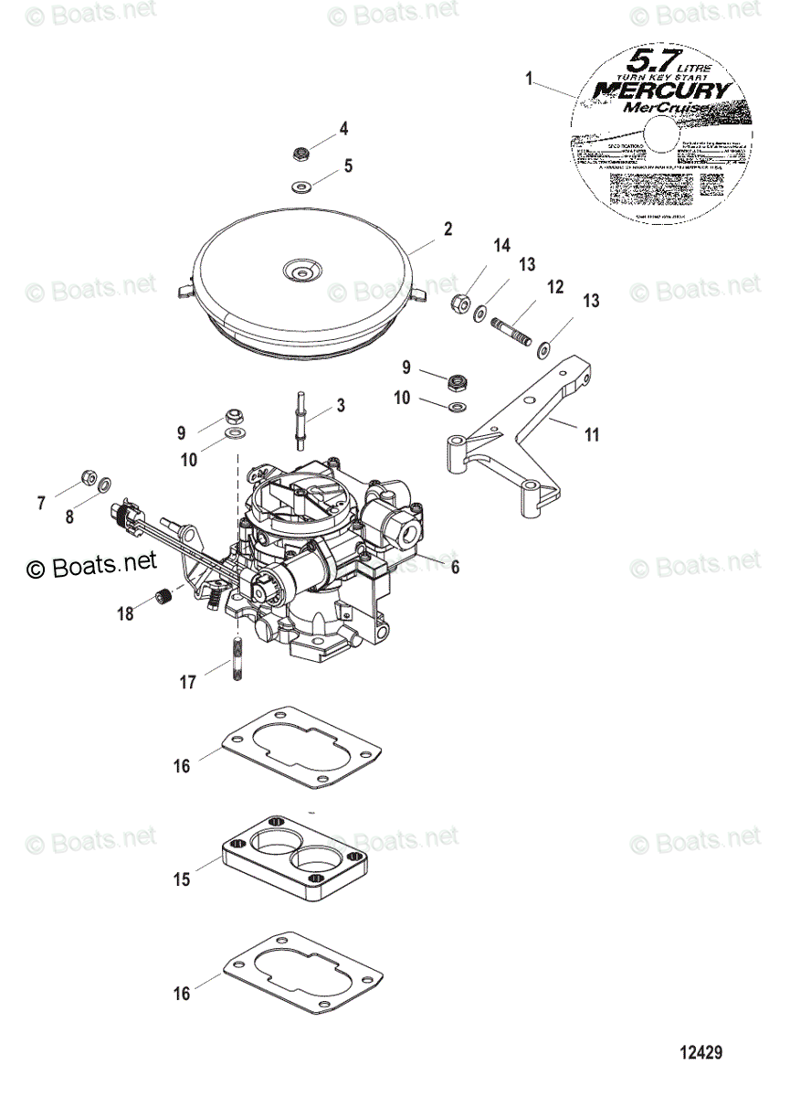 MERCRUISER GM V8 5 0L 5 7L 7 4L 8 2L MARINE ENGINE FULL