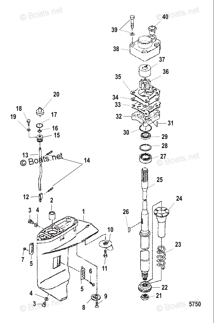Mercury Mercury & Mariner Outboard Parts by HP & Liter