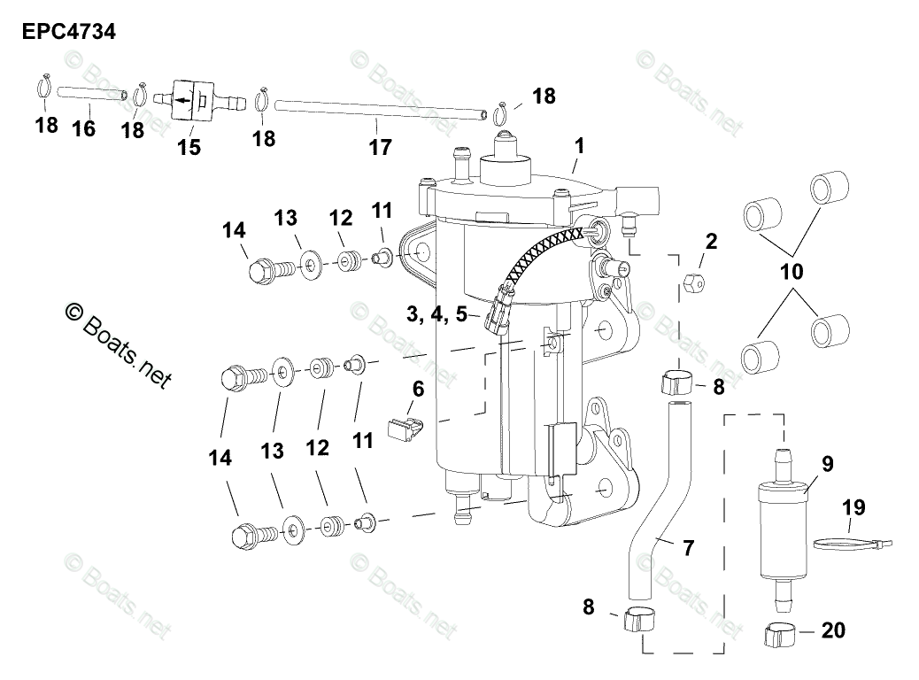 Evinrude Outboard Parts By Hp 30
