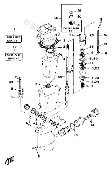 Yamaha Outboard Parts by Year 1990 OEM Parts Diagram for