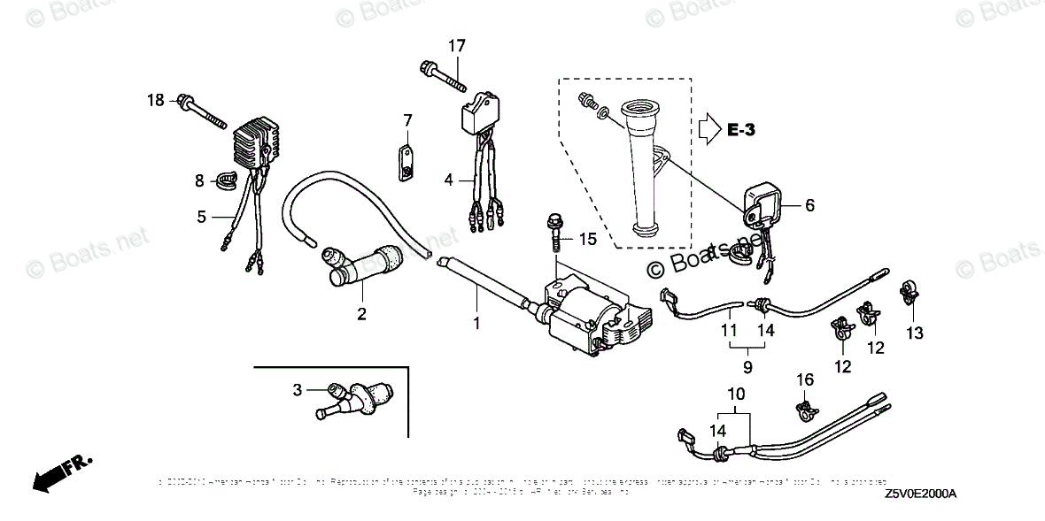 Honda Small Engine Parts GXV390 OEM Parts Diagram for