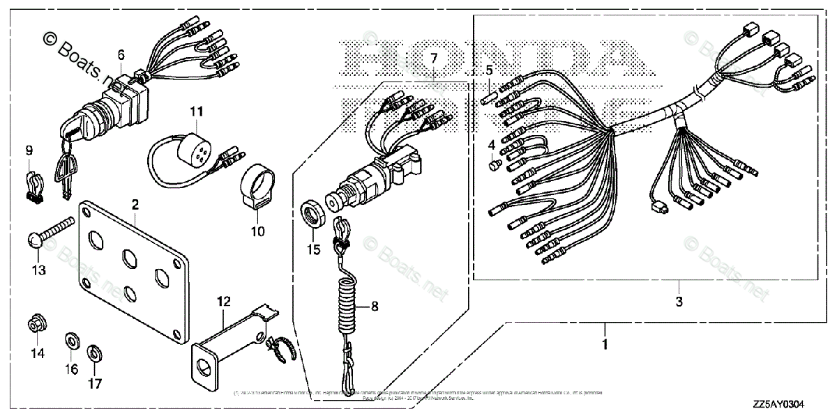 Honda Outboard Parts by HP & Serial Range 50HP OEM Parts