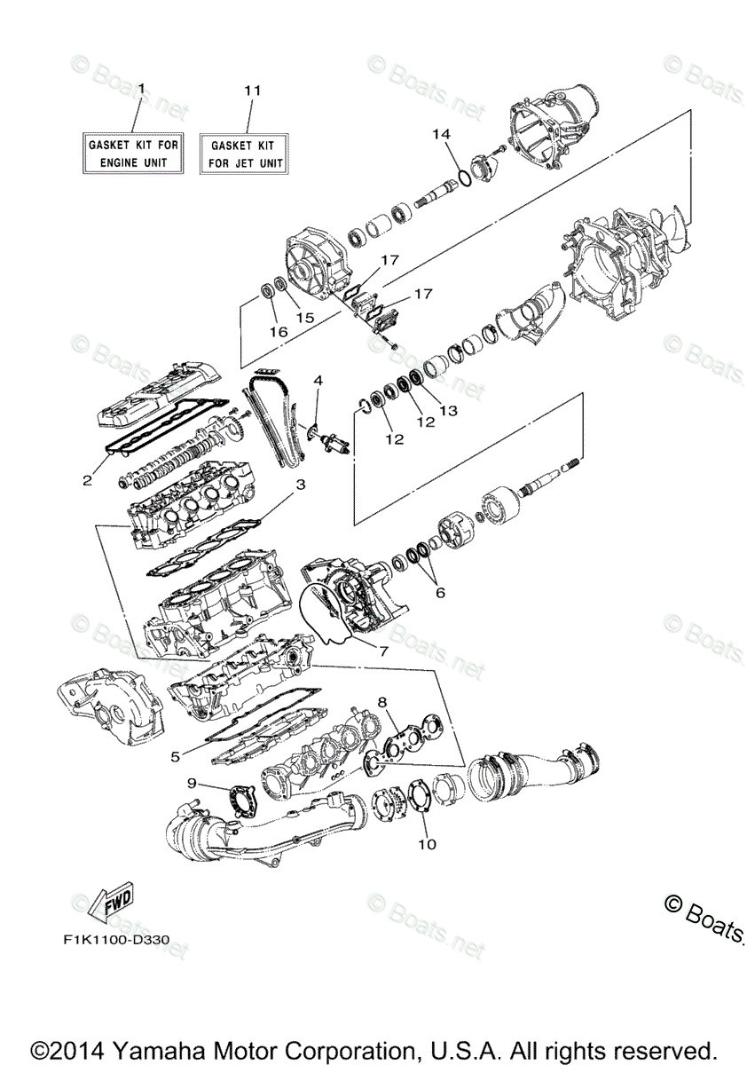 Yamaha Waverunner Parts 2006 OEM Parts Diagram for Repair
