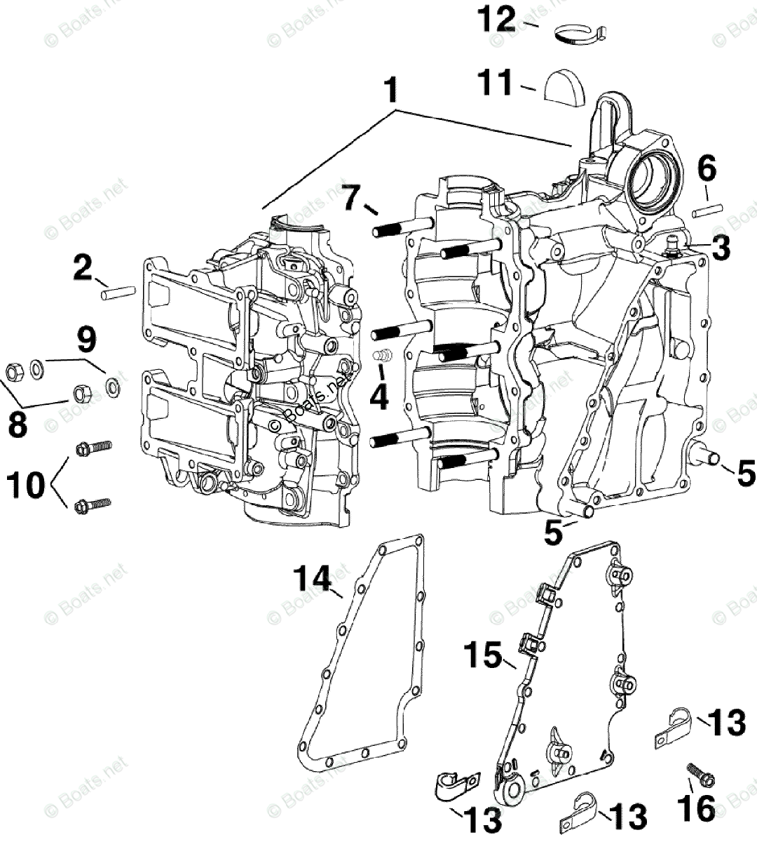 Evinrude Outboard Parts By Hp 40hp Oem Parts Diagram For