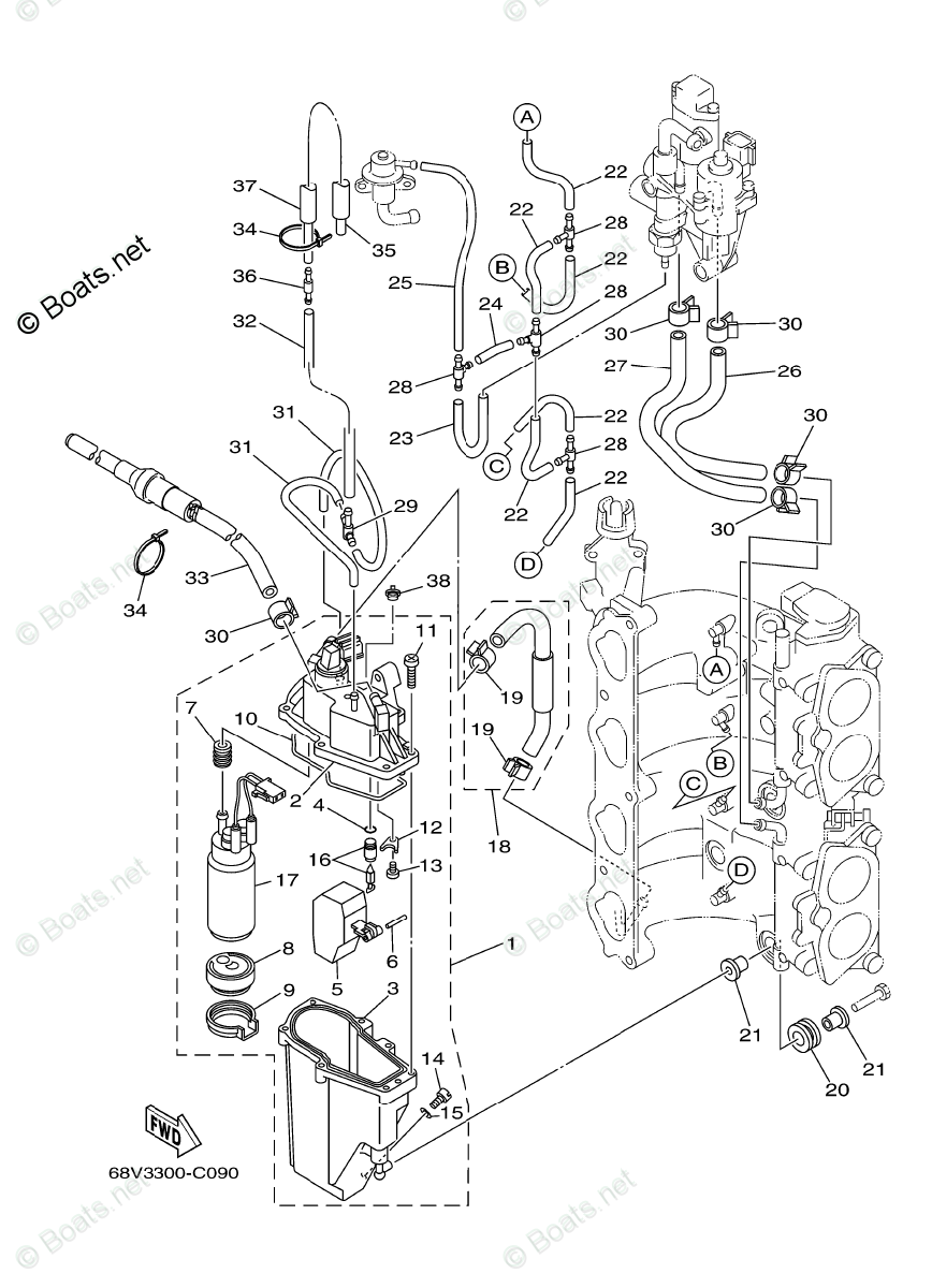 hight resolution of yamaha outboard parts by year 2005 oem parts diagram for fuel diagram of 2005 f115tlrd yamaha outboard fuel injection pump diagram