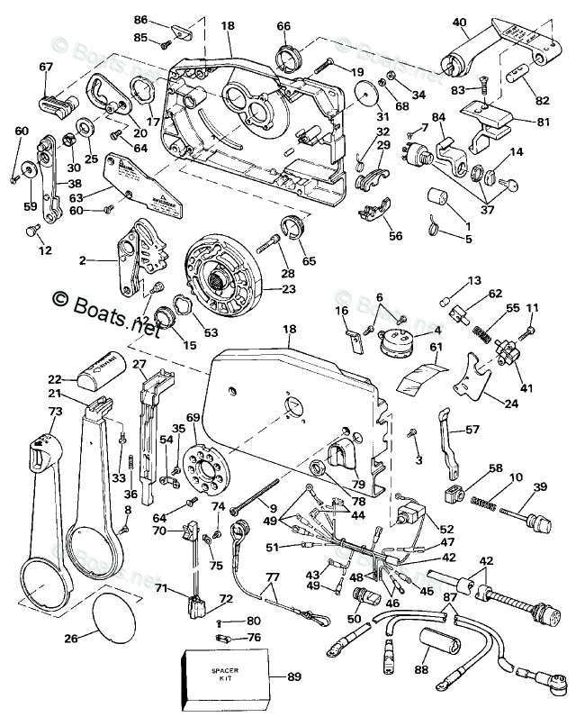 Johnson Outboard Parts by Year 1984 OEM Parts Diagram for