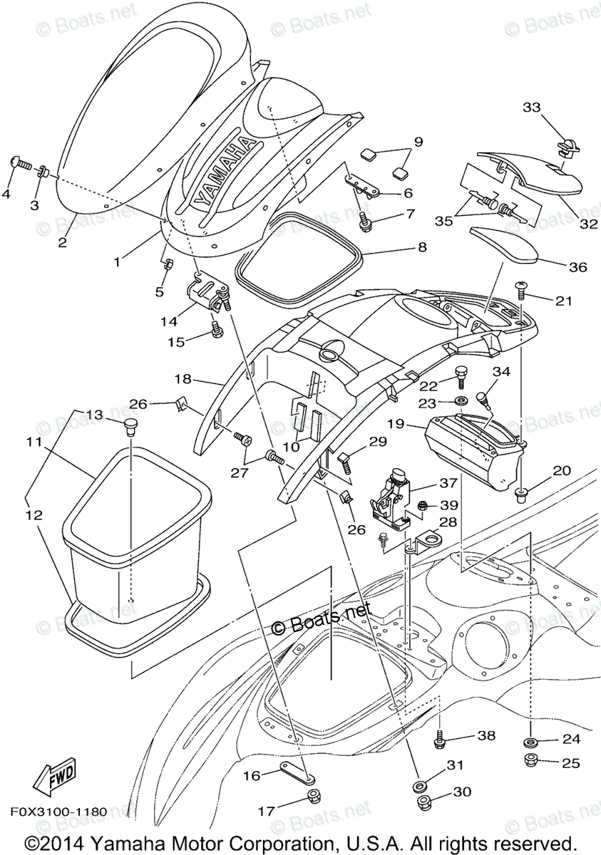 Yamaha Waverunner Parts 2001 OEM Parts Diagram for Engine