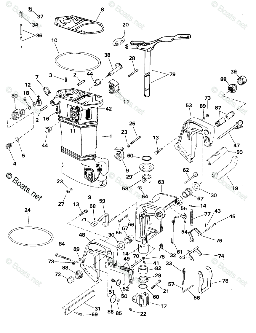 Johnson Outboard Parts by HP 35HP OEM Parts Diagram for