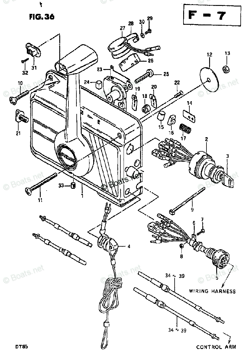 Suzuki Outboard Parts by Year 1982 OEM Parts Diagram for