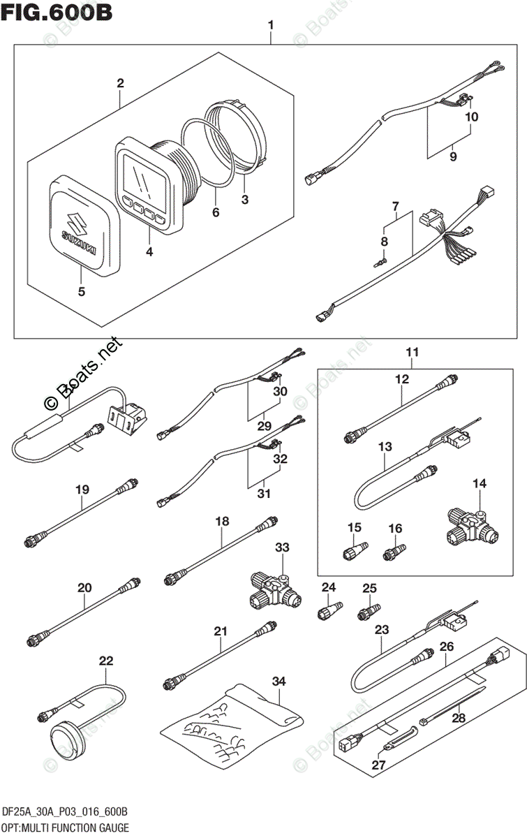 hight resolution of suzuki outboard parts by model df 25a oem parts diagram for optsuzuki outboard gauges wiring diagram