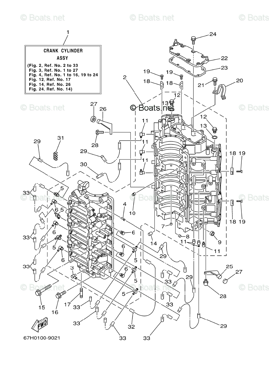 Yamaha Outboard Parts by Year 2001 OEM Parts Diagram for