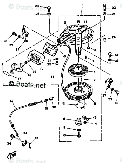 Yamaha Outboard Parts by Year 1987 OEM Parts Diagram for