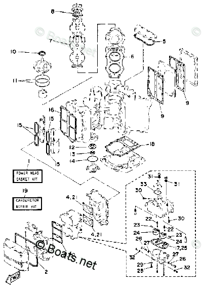 Yamaha Outboard Parts by HP 130HP OEM Parts Diagram for