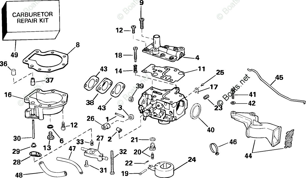Johnson Outboard Parts by HP 6HP OEM Parts Diagram for