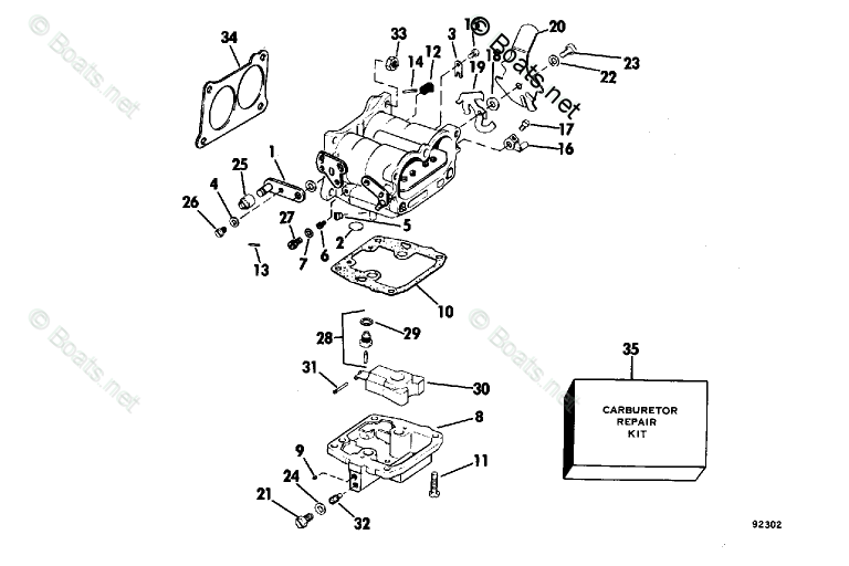 Evinrude Outboard Parts by HP 140HP OEM Parts Diagram for